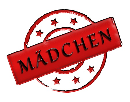 wichtig: Sign, symbol, stamp or icon for your presentation, for websites and many more named mädchen