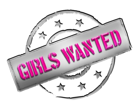 wichtig: Sign, symbol, stamp or icon for your presentation, for websites and many more named GIRLS WANTED