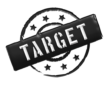 Sign, symbol, stamp or icon for your presentation, for websites and many more named TARGET Stock Photo - 13863765