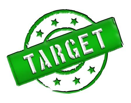 ende: Sign, symbol, stamp or icon for your presentation, for websites and many more named TARGET