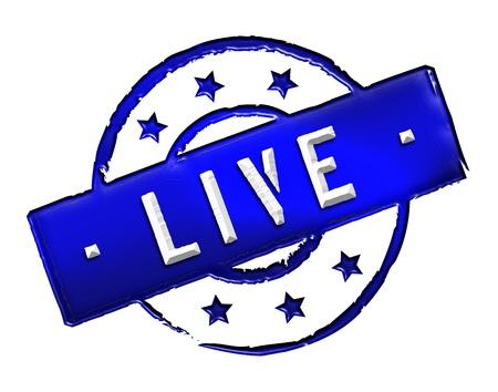 Sign, symbol, stamp or icon for your presentation, for websites and many more named LIVE Standard-Bild