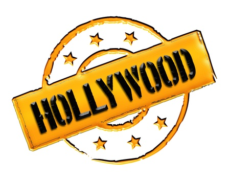 Sign, symbol, stamp or icon for your presentation, for websites and many more named HOLLYWOOD