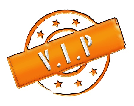 wichtig: Sign, symbol, stamp or icon for your presentation, for websites and many more named VIP