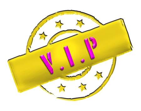 Sign, symbol, stamp or icon for your presentation, for websites and many more named VIP