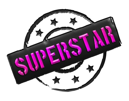 stempel: Sign, symbol, stamp or icon for your presentation, for websites and many more named SUPERSTAR