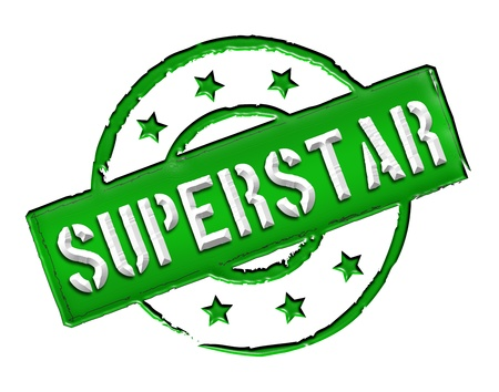wichtig: Sign, symbol, stamp or icon for your presentation, for websites and many more named SUPERSTAR