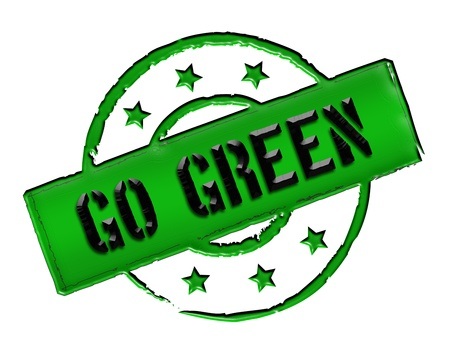 Sign, symbol, stamp or icon for your presentation, for websites and many more named GO GREEN photo