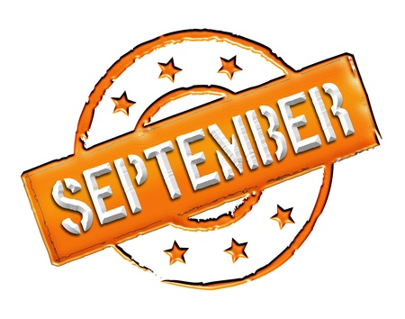 month: Sign, symbol, stamp or icon for your presentation, for websites and many more named SEPTEMBER