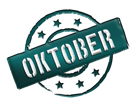 wichtig: Sign, symbol, stamp or icon for your presentation, for websites and many more named OKTOBER