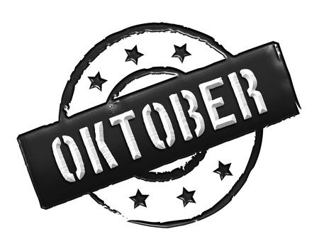 stempel: Sign, symbol, stamp or icon for your presentation, for websites and many more named OKTOBER