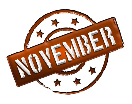 Sign, symbol, stamp or icon for your presentation, for websites and many more named NOVEMBER