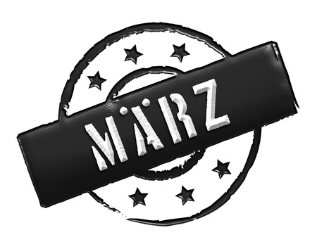 frhling: Sign, symbol, stamp or icon for your presentation, for websites and many more named MÄRZ Stock Photo