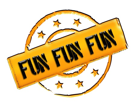 stempel: Sign, symbol, stamp or icon for your presentation, for websites and many more named FUN FUN FUN Stock Photo