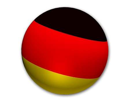 macht: Germany sketch shown as a planet, ball for your presentation Stock Photo