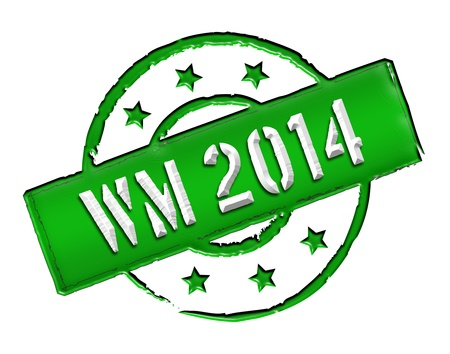 soccer wm: Sign, symbol, stamp or icon for your presentation, for websites and many more named WM 2014