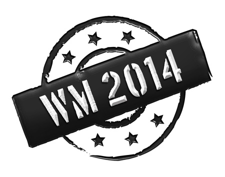 Sign, symbol, stamp or icon for your presentation, for websites and many more named WM 2014 photo