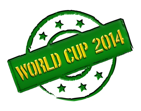 soccer wm: Sign, symbol, stamp or icon for your presentation, for websites and many more named World Cup 2014
