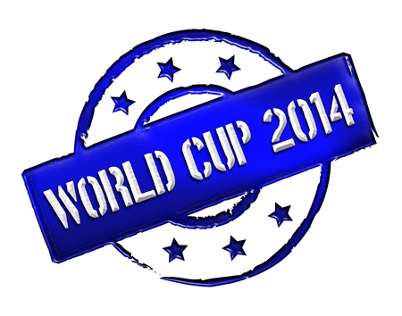 stempel: Sign, symbol, stamp or icon for your presentation, for websites and many more named World Cup 2014