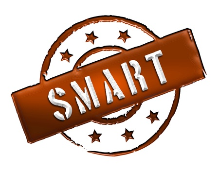 stempel: Sign, symbol, stamp or icon for your presentation, for websites and many more named SMART Stock Photo
