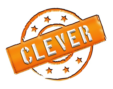 stempel: Sign, symbol, stamp or icon for your presentation, for websites and many more named CLEVER