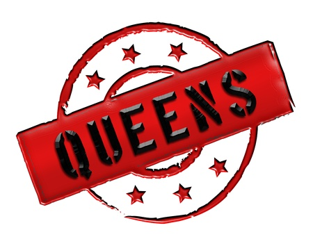 Sign, symbol, stamp or icon for your presentation, for websites and many more named QUEENS photo