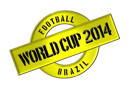 soccer wm: Ilustraci�n de la Copa Mundial de 2014 en Brasil como bandera para su presentaci�n, p�gina web, acogedor ... Editorial
