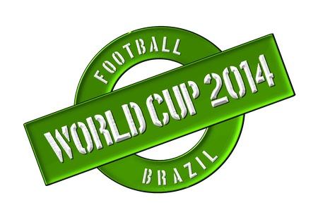 soccer wm: Ilustraci�n de la Copa del Mundo de 2014 en Brasil como bandera para su presentaci�n, sitio web, invitando ...
