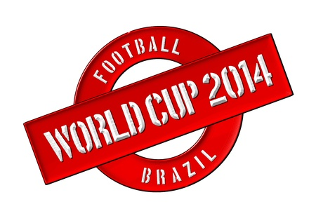siegel: Illustration of the World Cup 2014 in Brazil as Banner for your presentation, website, inviting... Editorial