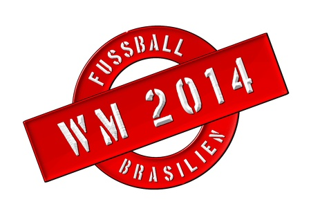 soccer wm: Illustration of the World Cup 2014 in Brazil as Banner for your presentation, website, inviting... Stock Photo