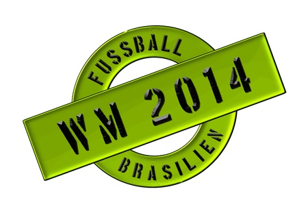 siegel: Illustration of the World Cup 2014 in Brazil as Banner for your presentation, website, inviting... Stock Photo