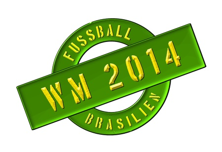 Illustration of the World Cup 2014 in Brazil as Banner for your presentation, website, inviting... illustration