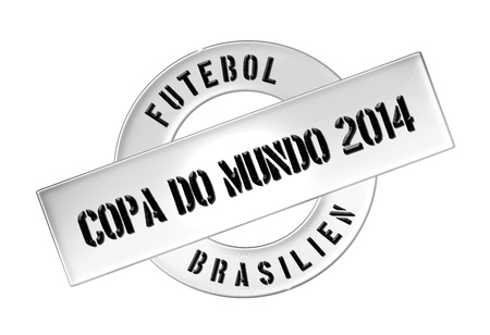 soccer wm: Illustration of the World Cup 2014 in Brazil as Banner for your presentation, website, inviting... Editorial