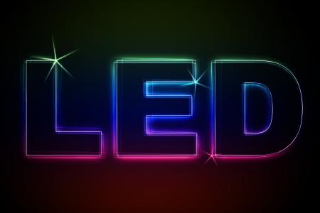 LED Illustration as LED Lights for your Presentation or website Standard-Bild