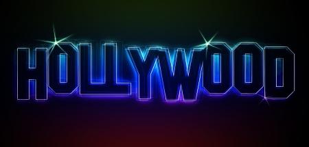 Hollywood Illustration as LED Lights for your Presentation or website Stock Illustration - 13974541