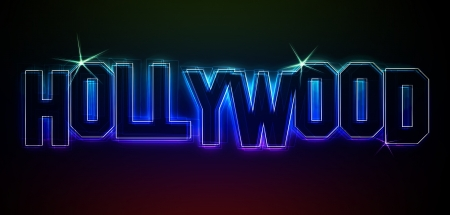 leds: Ilustraci�n de Hollywood, como las luces LED para su presentaci�n o sitio web