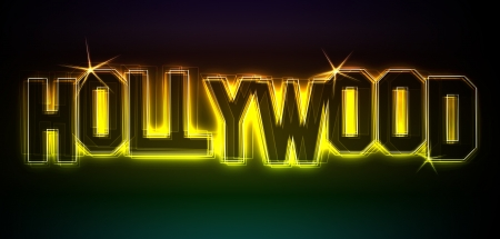 Hollywood Illustration as LED Lights for your Presentation or website illustration