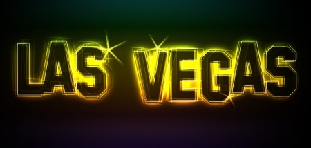 LAS VEGAS Illustration as LED Lights for your Presentation or website illustration