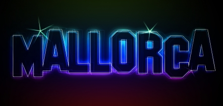 MALLORCA Illustration as LED Lights for your Presentation or website illustration