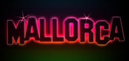 MALLORCA Illustration as LED Lights for your Presentation or website