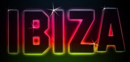 ibiza: IBIZA Illustration as LED Lights for your Presentation or website