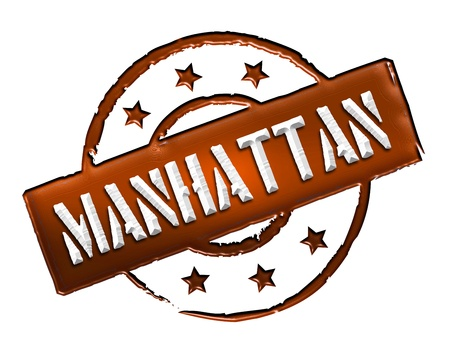Sign, symbol, stamp or icon for your presentation, for websites and many more named MANHATTAN  photo