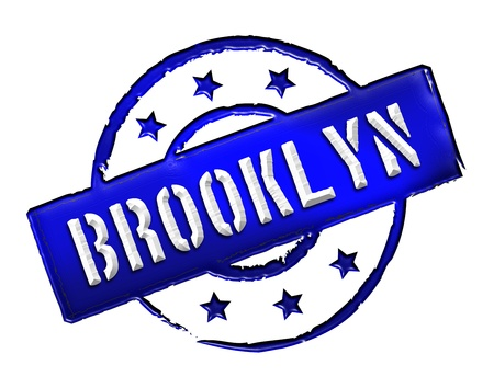 bronx: Sign, symbol, stamp or icon for your presentation, for websites and many more named BROOKLYN  Stock Photo