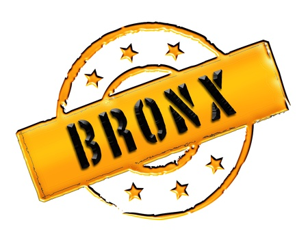 Sign, symbol, stamp or icon for your presentation, for websites and many more named BRONX  Stock Photo - 14001869