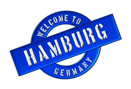 Reisen: Illustration of WELCOME TO HAMBURG as Banner for your presentation, website, inviting