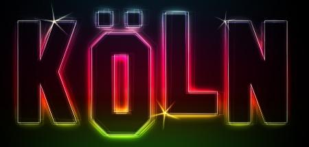 KLN ALS-Illustration im Stil Neon Licht fr Prsentationen, Flyer, Web, etc