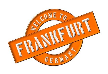 Reisen: Illustration of WELCOME TO FRANKFURT as Banner for your presentation, website, inviting