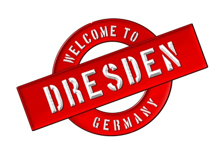 Reisen: Illustration of WELCOME TO DRESDEN as Banner for your presentation, website, inviting