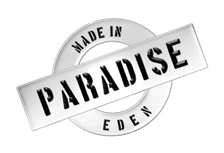 engel: Made in PARADISE - Banner, Illustration fuer Praesentation, Website, Prospekte, Flyer,    Stock Photo