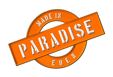 engel: Made in PARADISE - Banner, Illustration fuer Praesentation, Website, Prospekte, Flyer,    Stock Photo