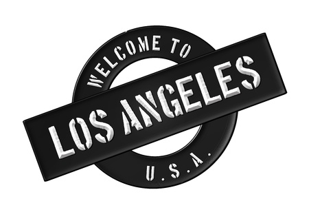 Reisen: Illustration of WELCOME TO LOS ANGELES as Banner for your presentation, website, inviting...